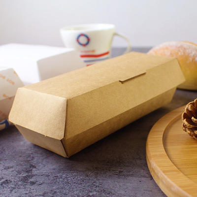 Factory direct supply food grades kraft paper Hot dog paper tray