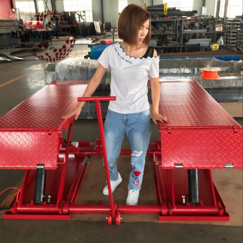 Auto mid-raise hydraulic scissor lift for sale 3.5 ton mobile ramps scissor car lift