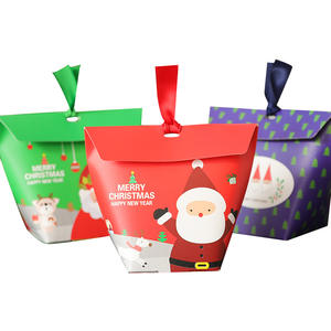 New Fashion Santa Claus Printing Paper Christmas Gift Candy Box For Promotional Items