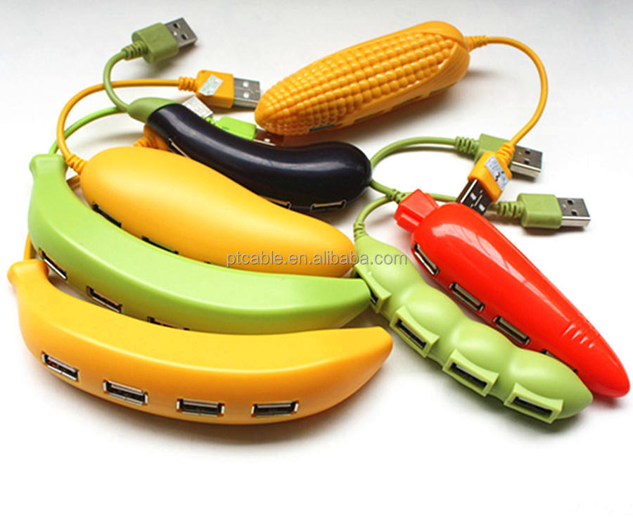 Fruit series Mango shaped 4 port cute usb 2.0 hub