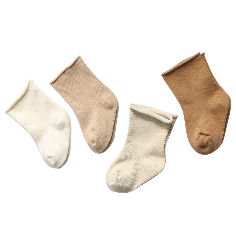 Winter thick breathable kid's high quality warm soft plain baby socks