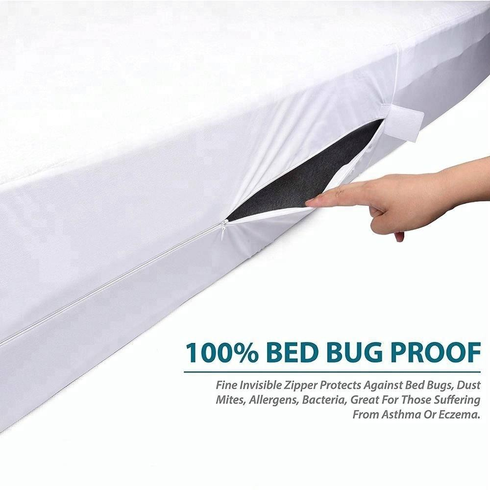 Premium Bed Bug Proof Boxspring Encasement Waterdichte Ritssluiting Matras Protector Box Lente matrashoes bed protector