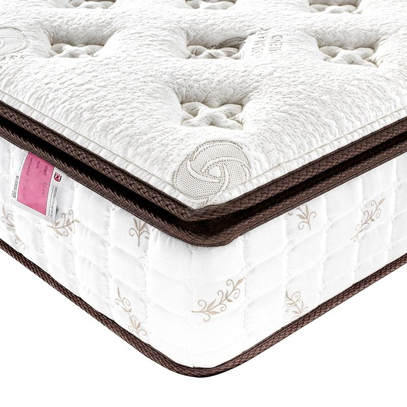 5 Star Hotel Vacuum Compressed Luxury Bamboo Fiber Pocket Sprung Mattress