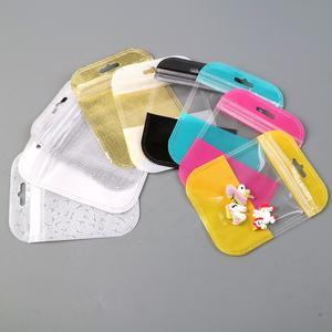 Custom Jewelry Display Bracelet Packaging Self Seal Zip Lock Poly Bag With Hang Hole 80331
