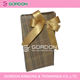 gold pre-tied satin ribbon bow with elastic loop gift packaging/magnificent satin ribbon bow