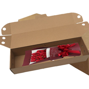 corrugated paper e flute flower delivery shipping boxes