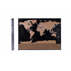 Popular Gift World Scratch Off Travel Map for Remembering Your Tour Memory