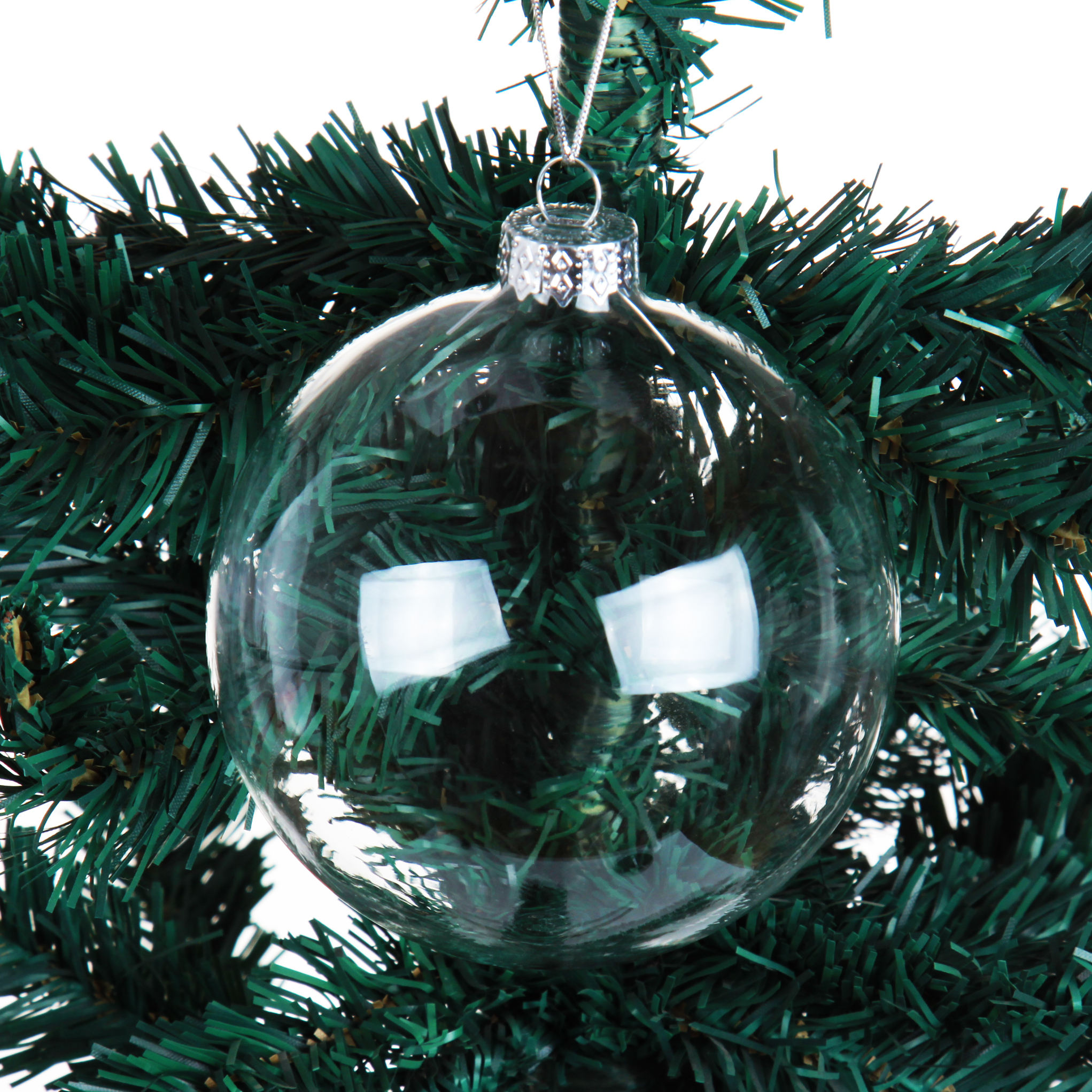 100 groothandel clear glas ball ornamenten
