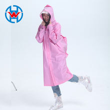 Hiking fashion poncho adult men and women rain coat thicken EVA environmental backpack Pink raincoats for adults