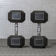 No bad smell no broken Gym Equipment used rubber coated hex dumbbell rubber coated dumbbell