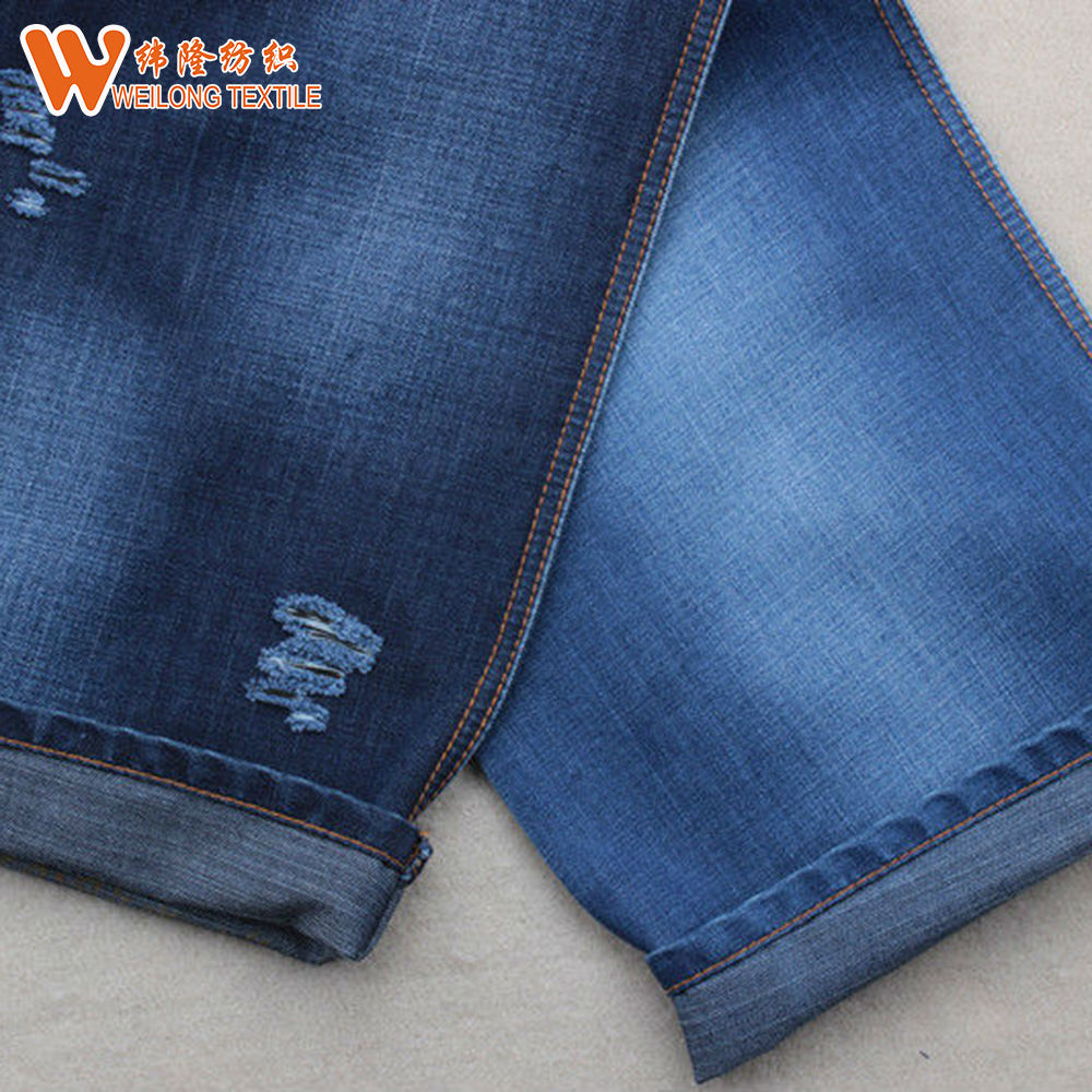 Factory low prices indigo woven denim jeans twill woven fabric
