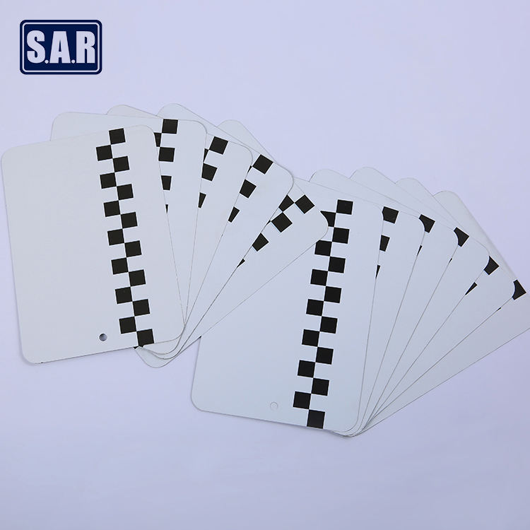 metal spray out card thin aluminum sheet test card out