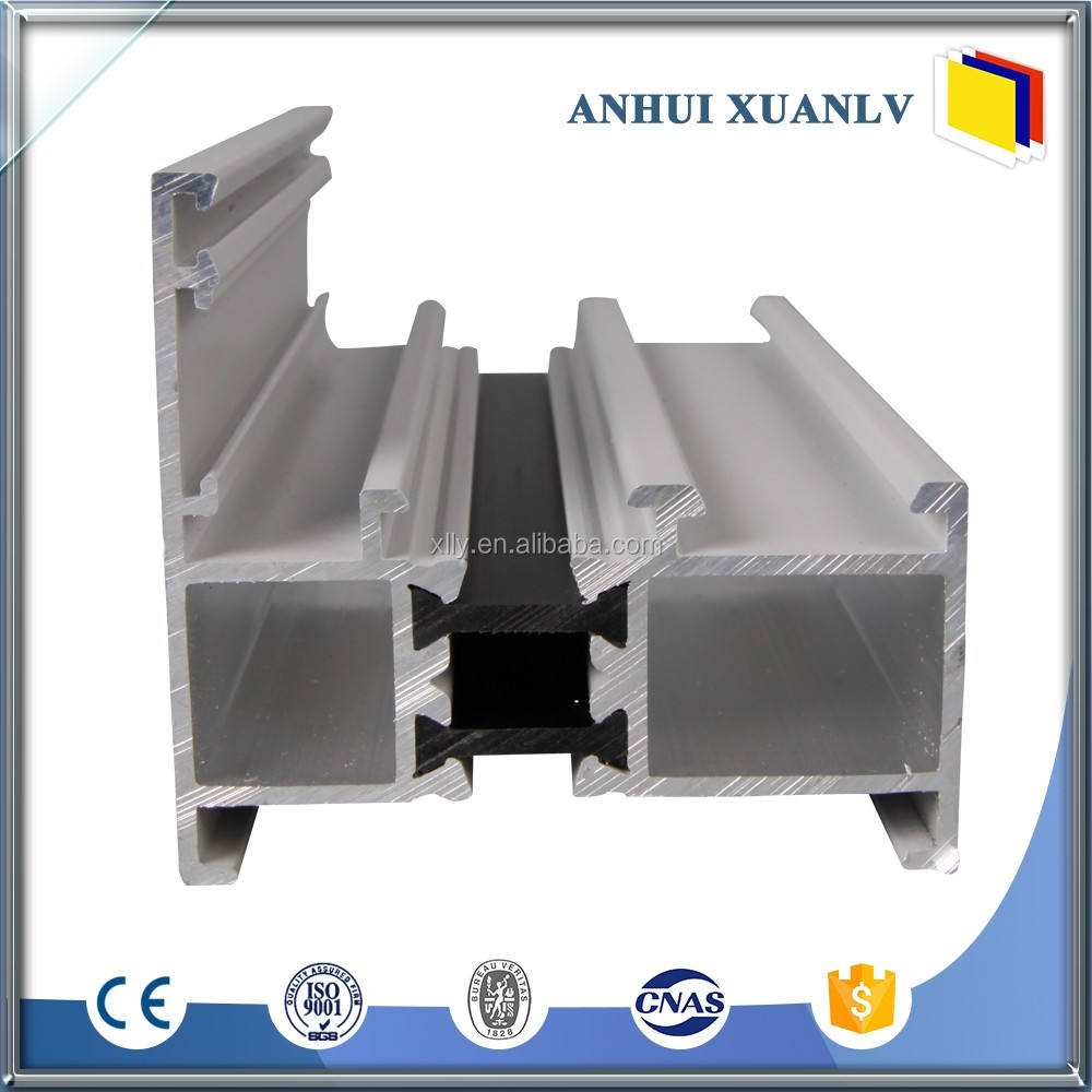 Trade assurance hermética porta e janela de perfil de alumínio de fábrica