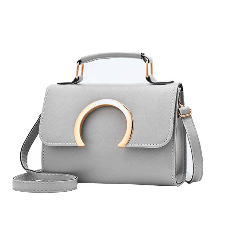 Fashion style ladies shoulder oem bags women hand bags handbag with metal lock decoration
