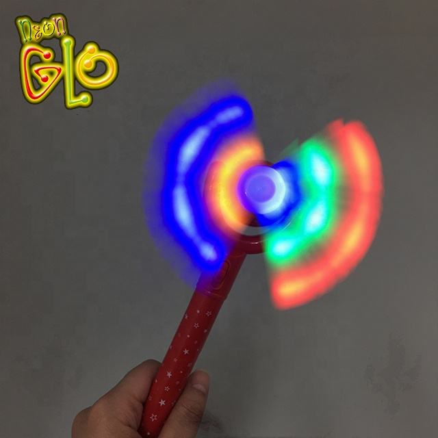 New design children toys led flashing rainbow spinning windmill toy