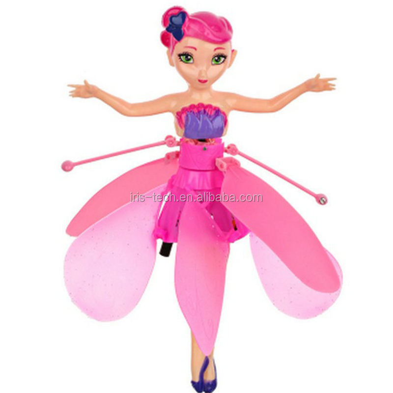 2018 Flying Fairy RC infrared Induction Helicopter kids toys Teen toys Flying Princess Doll
