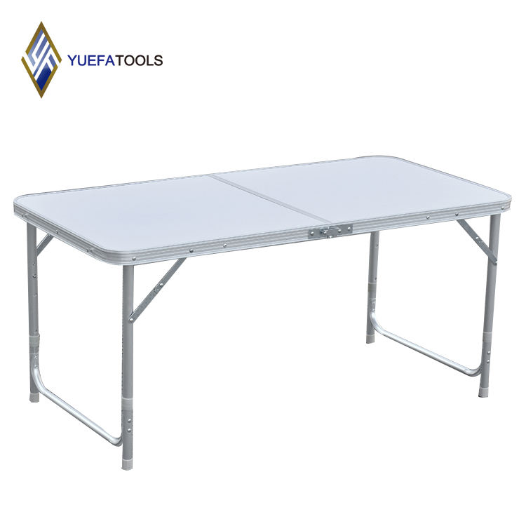 1.2M Outdoor 4ft Long Height Adjustable Aluminum Outdoor Picnic and Camping Folding Table