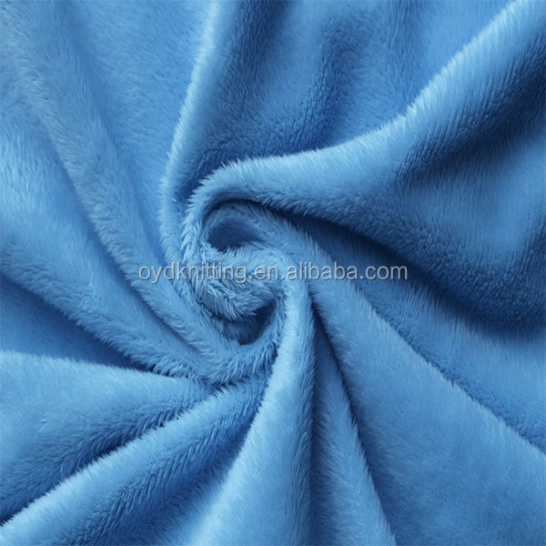 100% Polyester Soft Touch Plush Fabric Soft Minky Velboa Toy Fabric for Baby/Children Using