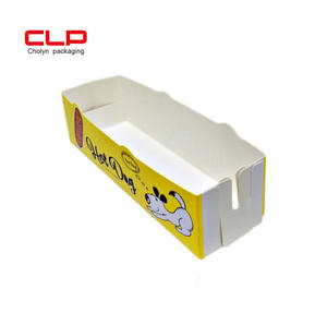 CLP Wholesale Customized Logo Food Hot Dog Snacks Box Paper Folding Packaging Box