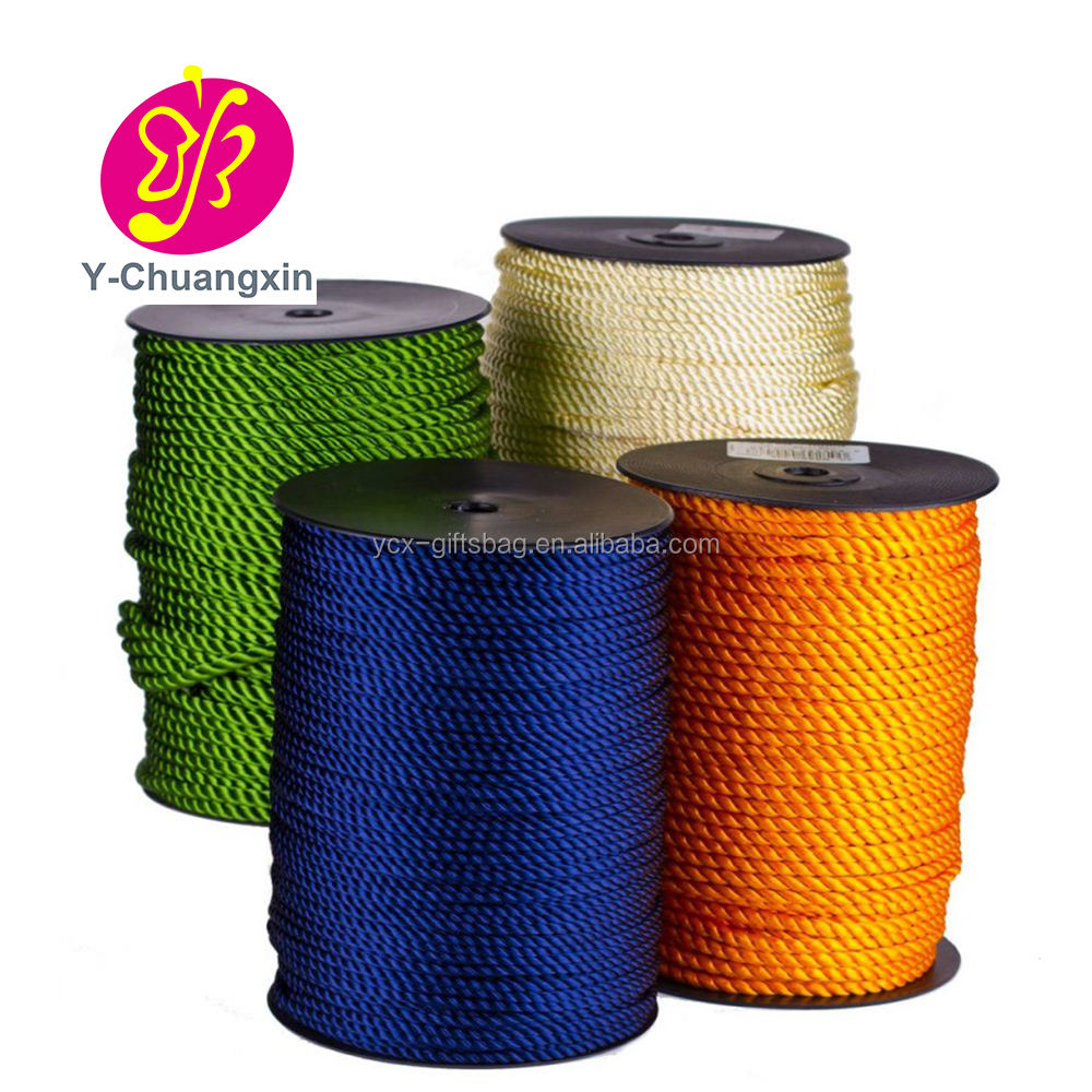 China factory supplier 3mm polyester Twisted cord rope