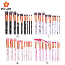 10Pcs Marble Makeup Brush,High Quality Cosmetic Makeup Brush Set,Oem Custom logo Private Label Powder Brushes Makeup Brush Tool