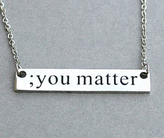 "Stainless Steel "" You Matter "" Necklace, Strength, Inspirational, Symbolic Jewelry"