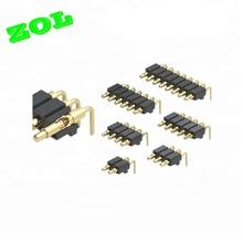 Zol 2 3 4 5 6 pin right angle 3 micro pogo pin connector