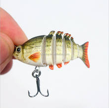 5cm 2.5g Mini Vibe Hard Fishing Lure 6 sections fishing accessories