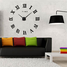 Modern DIY Large Wall Clock Quartz Watch Roman Numbers Mute Large Wall Clock