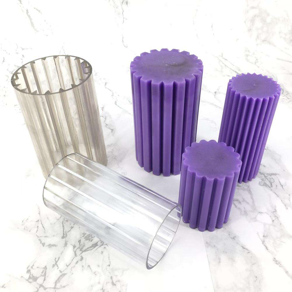 polycarbonate fluted column diy candle making plastic mould