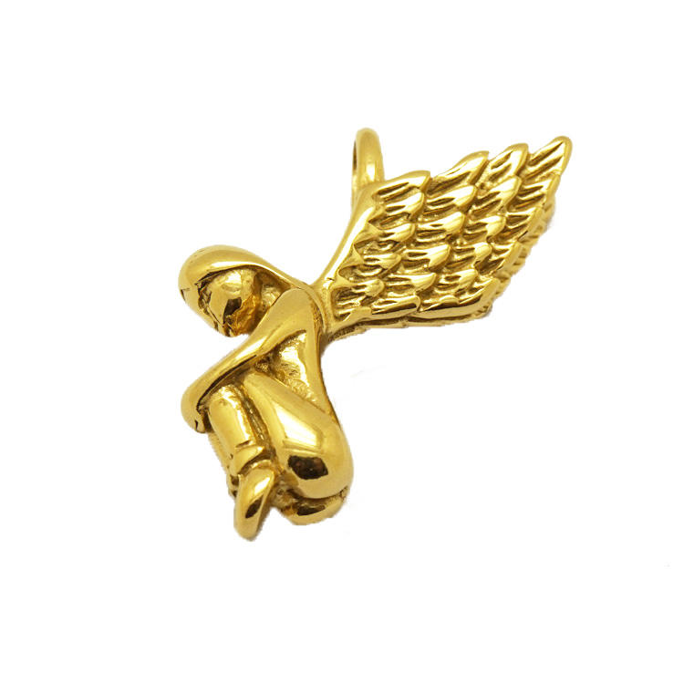 Newest Design Stainless Steel 18K Gold Angel Wing Pendant