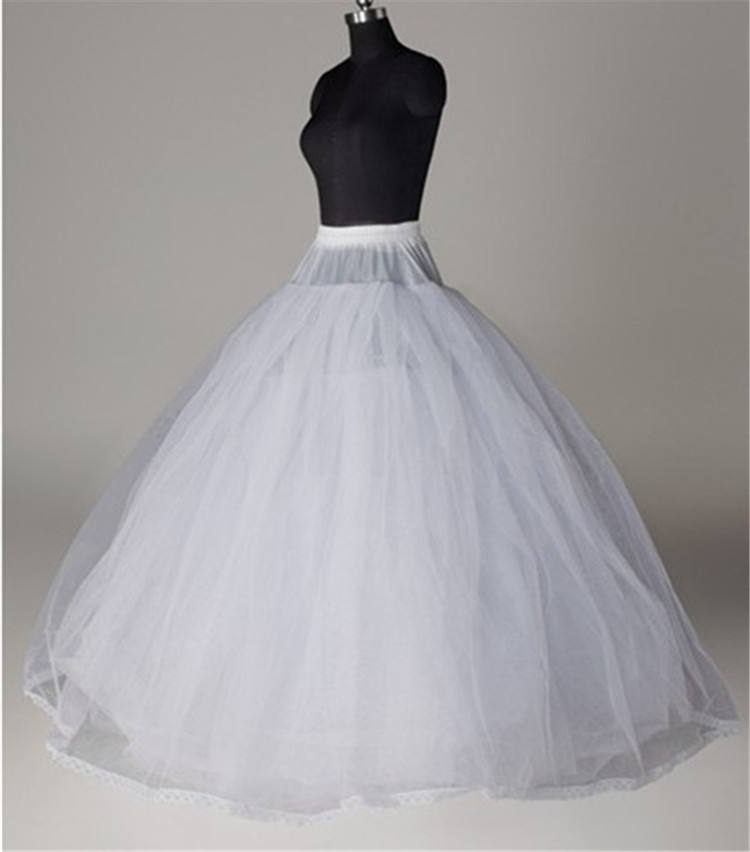 Under wear underskirt no hoops 8 layers tulles petticoat for ball gown puffy Wedding dress bridal gown