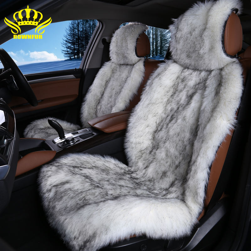 New design eco-friendly healthy long hair sheepskin faux suitable car seat covers cushions