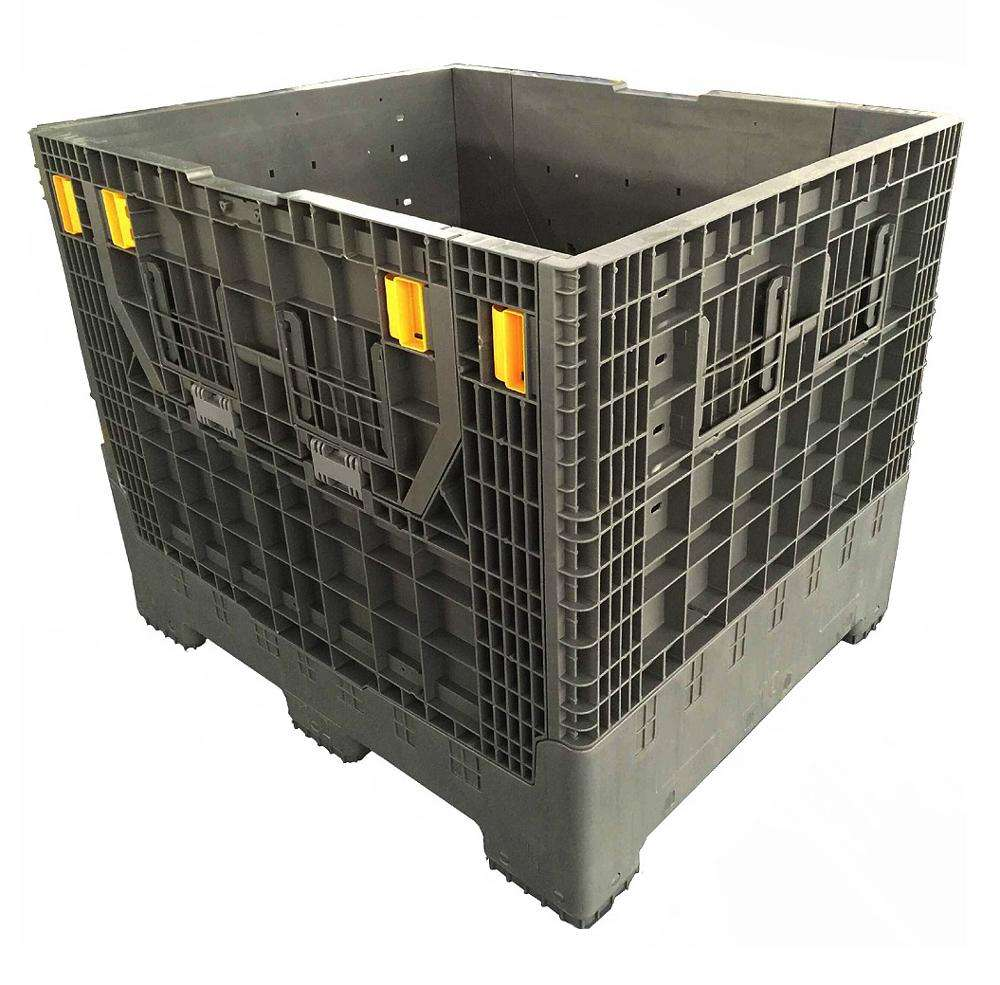 industry plastic pallet box large prefabricated collapsible plastic container
