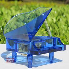 blue crystal miniature piano for decoration