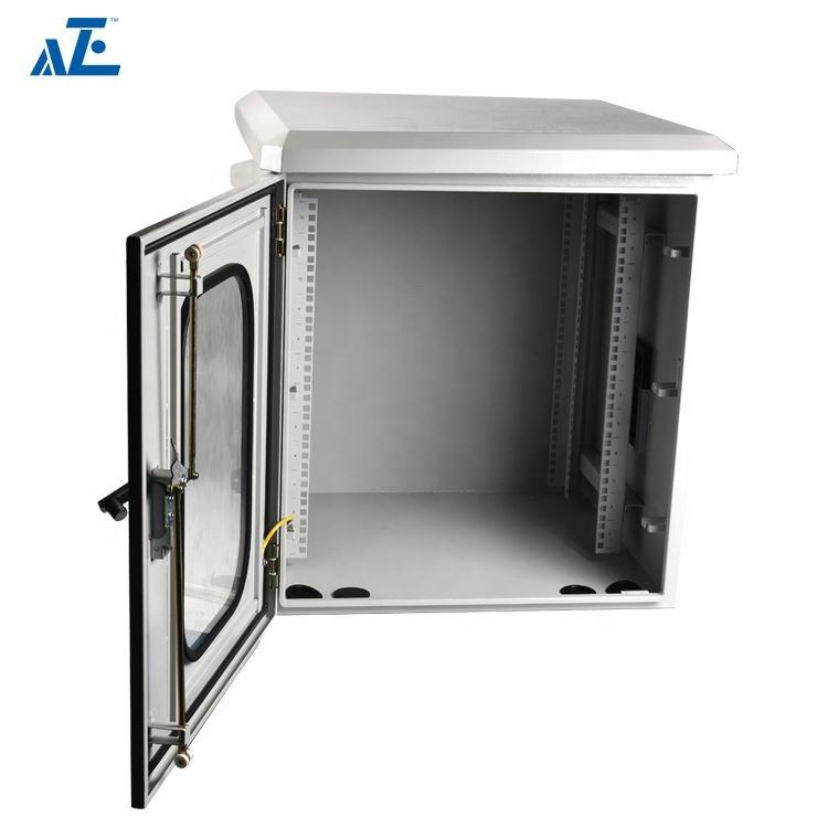 9U IP45 IP55 Data Security POLE MOUNT Stainless steel Enclosure Outdoor for Wiring Distribution Cabinet