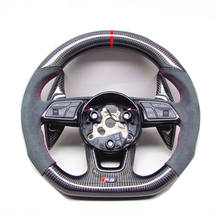 AUTO RACING CAR STEERING WHEEL FOR Audi RS5 RS3 S3 S4 S5CARBON FIBER STEERING WHEEL  2017