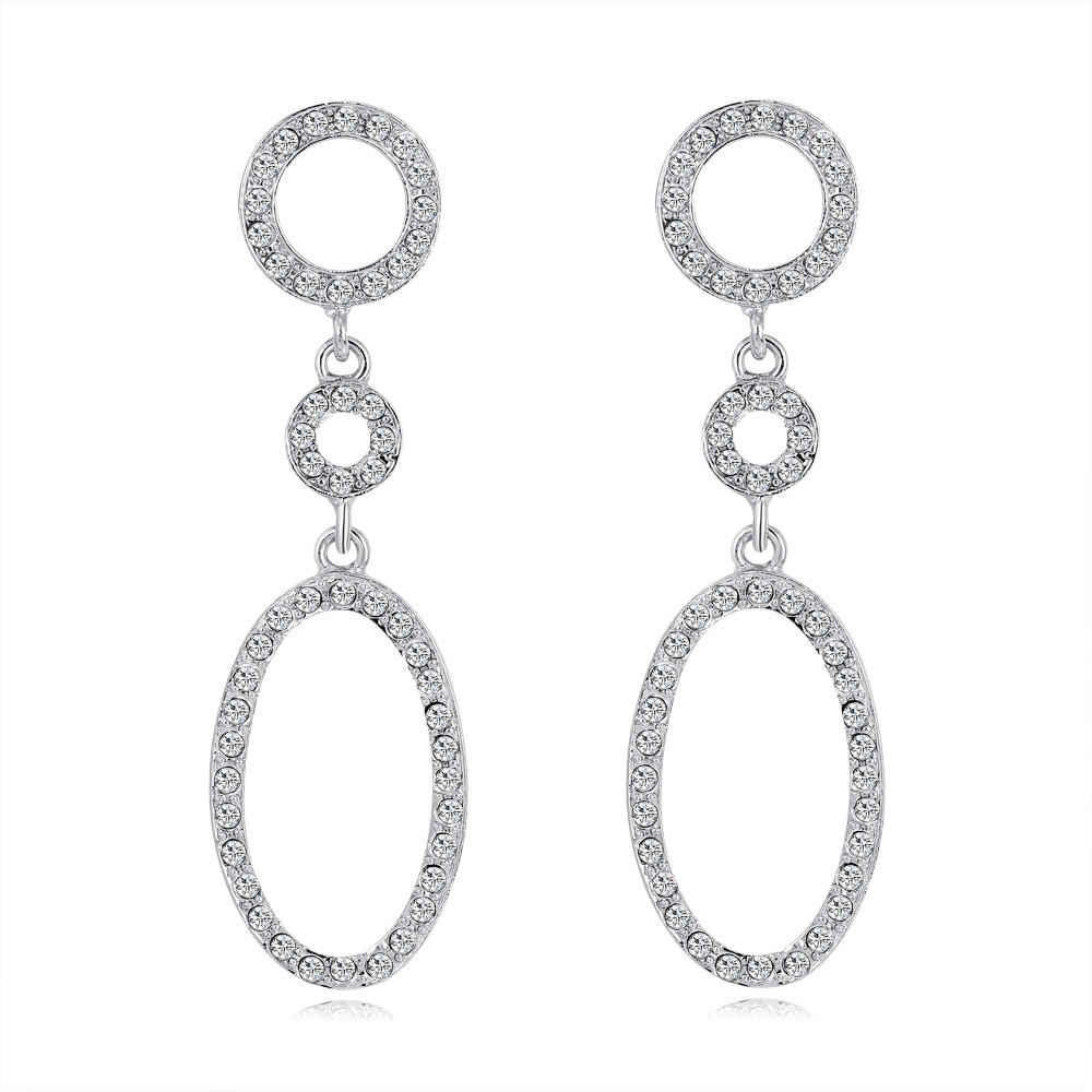 The New Fashion Silver Drop Diamond Earring Girls For Women present Wholesale