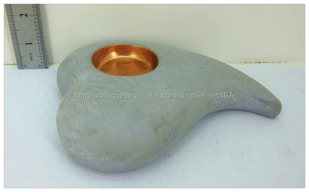 Decoração home original de concreto símbolo do coração tealight titular