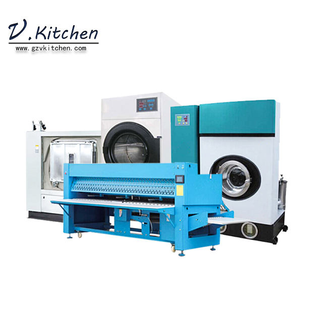 Hotel and hospital washing drying press equipment machine good prices for Commercial laundry