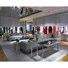 High-quality retail clothing showroom interior design for cloth shop