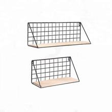 OEM 550-90  newest wall mounted grid hanging decor wire storage shelf for living room bedroom
