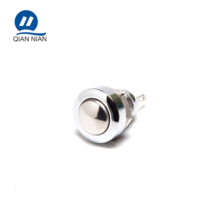 8mm domed head momentary 2pin metal push button switch