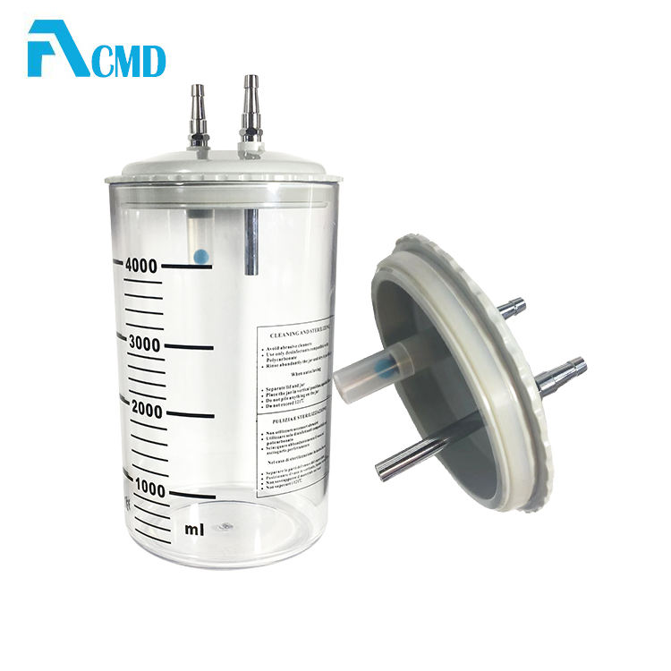 4L Medical Suction Jar For Bed Head Unit
