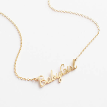 Inspire jewelry Personalized Custom Any Name Choker Necklace 18K Gold Plated Handwriting Nameplate Necklace
