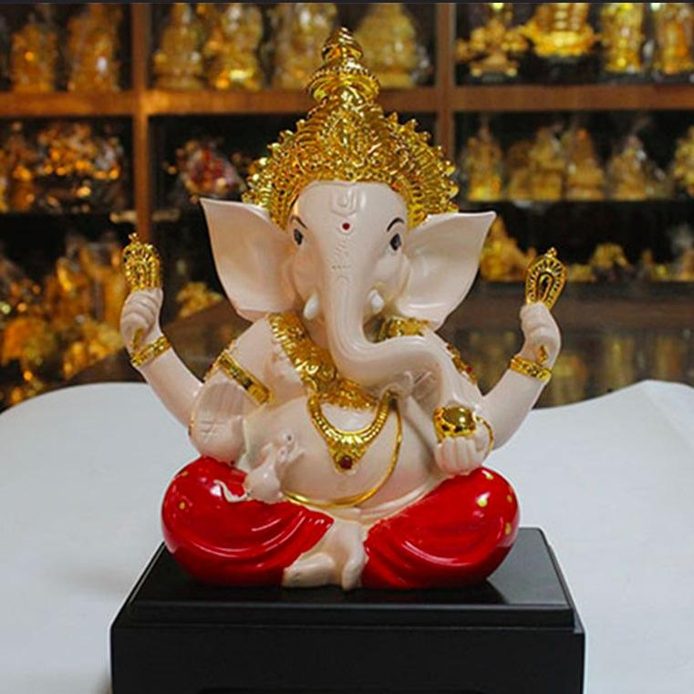 Lord Ganesha Hindu Statue Good Luck God Figure