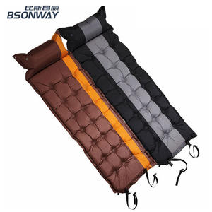 BSONWAY Sleeping Pad Camping Air Mattress Self Inflating Mat Bed for Backpacking Adults Inflatable Ultralight