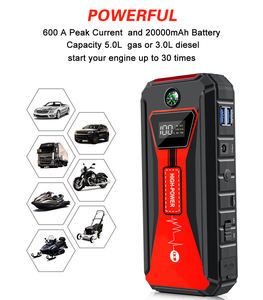 Mini Car Accumulator Jump Starter Powerbank Car Booster 20000mAh