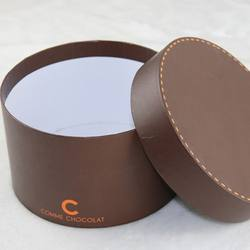Cylinder cosmetic packaging box