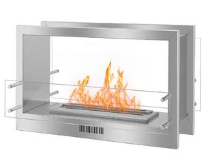 Inno living fire 38 see through 2 sided electric fireplace firebox